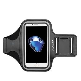 iPhone 7 Plus Armband, J&D Sport-Armband für Apple iPhone 7 Plus, zusätzliche Tasche für Schlüssel, perfekte Kopfhörer-Verbindung für unterwegs - Schwarz -
