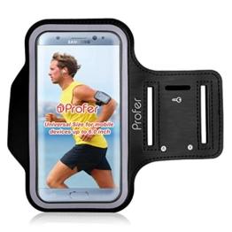 iPhone 7 Plus Armband, Profer Neopren Fit Sportarmband Gürtel Armbänder mit verstellbarer Riemen für iPhone 7 Plus (Armband-schwarz) -