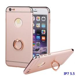 """iPhone 7 Plus Hülle, xhorizon TM FM8 3 in 1 Ultra Dünn Hart Schützend Stilvoll Case für iPhone 7 Plus [5.5""""] mit 360 Grad Drehbar Ring Ständer (Pink) -"""