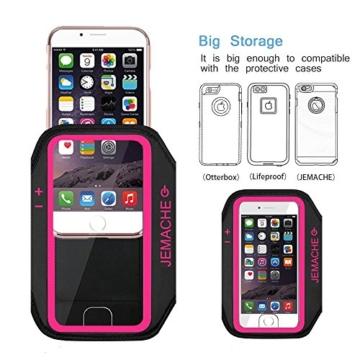 iphone 7 7 plus armband jemache unterst tzt fingerabdruck. Black Bedroom Furniture Sets. Home Design Ideas