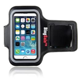iPhone SE hülle, Bingsale Apple iPhone SE 5S 5C 5 Original Neoprene Deluxe Dual Fit Easy Fit Freizeit und Sport Armband Armtasche in Schwarz -