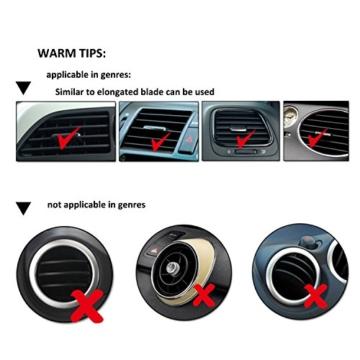 Ipow® Universal KFZ Auto Handy Halterung Halter, Autohalterung für den Lüftungsschlitz Ihres Autos, Handyhalterung für alle Handy-Modelle wie iPhone 7/ 7 Plus/ 6/ 6 Plus/ 6s/ 5s / 5 & Samsung Galaxy S7/ S6/ S5/ S4 HTC Huawei etc. -