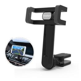 iVoler® Handyhalterung Auto Lüftung mit Clips, Universal KFZ Handy Halterung Autohalterung mit 360 Grad Drehung Car Mount für iPhone 7/7 Plus/6S/6s Plus/6/6 Plus/5S/5C/SE, Samsung S6/S6 Edge, Huawei P9 Lite, Sony Xperia, GPS, MP3 Player und andere Smartphone - Grau /Schwarz -