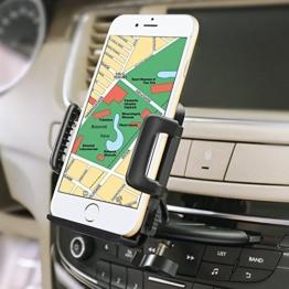 iVoler® Handyhalterung Auto Phone Halter für CD-Schlitz, Universal Handy KFZ Halterung 360 Grad Drehbar Autohalterung für iPhone 7 6S Plus 5S 5C SE, Samsung Galaxy S7 Edge, Huawei P9 Lite, LG, GPS, MP3 und andere Smartphone (50-95 mm breit) -