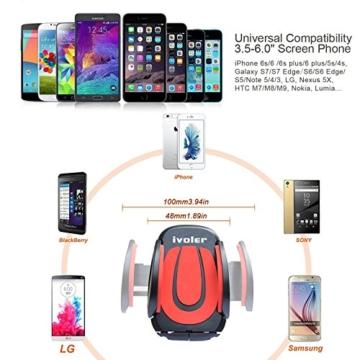ivoler handyhalterung auto phone halter verstellbaren. Black Bedroom Furniture Sets. Home Design Ideas