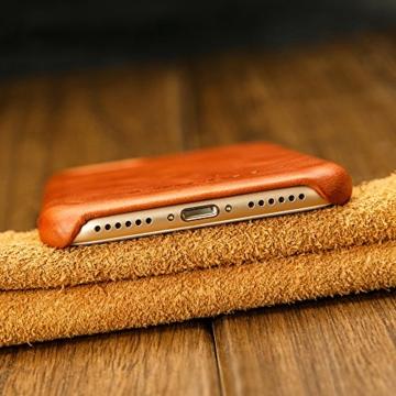 jisoncase vintage handytasche iphone 7 h lle braun leder. Black Bedroom Furniture Sets. Home Design Ideas