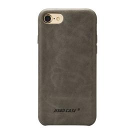 Jisoncase VINTAGE Handytasche iPhone 7 Hülle, Grau, Leder, JS-IP7-02A64 -