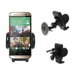 KFZ Auto Halterung Halter an Lüftung und Frontscheibe für HTC One M9, M8, M7, Mini, Desire Eye, 816, 820 -