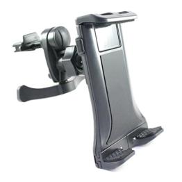 KFZ Lüftungshalterung für HTC 10 / One / mini / mini 2 / max / S9 / M8 / M8s / E8 / M9 / A9 / A9s / und Desire 825 / 820 / 816 / 728G / 628 / 626 / 626G / 620 / 610 / 530 / 526G / 510 / 320 / 310 / 300 / EYE / auch DUAL SIM Modelle / (Mod:2) Halter für die Lüftung im Auto und LKW in schwarz -