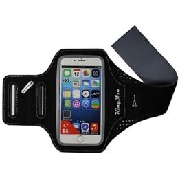 KingYou Sportarmband Schweißbeständig Running armband für iPhone 6 6S SE oder bis zu 4.7 Zoll Smartphone Geeignet für Bewegung Jogging Wandern Rad Fahren Hausarbeit und mehr (Schwarz) -