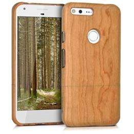kwmobile Holz Hülle für Google Pixel XL Case Kirschholz - Handy Cover Schutzhülle aus Holz in Hellbraun -