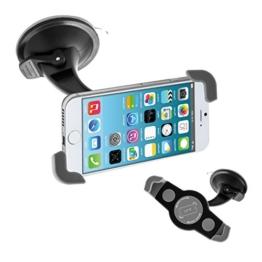 kwmobile KFZ Scheiben Halterung für Smartphones - PKW Auto Halter mit Saugnapf in Schwarz - z.B. geeignet für Samsung, Apple -