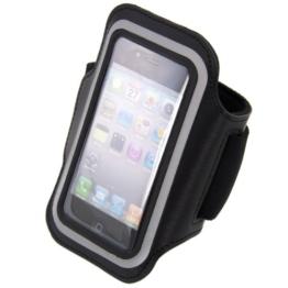 kwmobile Sport Armband für > Apple iPhone SE / 5 / 5S < - Jogging Lauf Sporttasche Fitnessband mit Schlüsselfach im Sportarmband in Schwarz -