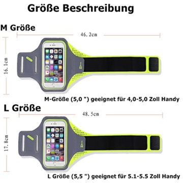 Lepfun A8 Wasserdicht Leichte Sportlaufband mit Schlüsselhalter , Kabel Locker und Geldkarten-Halter für iPhone 7/7 Plus / 5S / 5 / 5C / 6 / 6S, Galaxy S3 / S5 / S6 / S7 Rand / Note 5 / Note 4(5.0 inch) -
