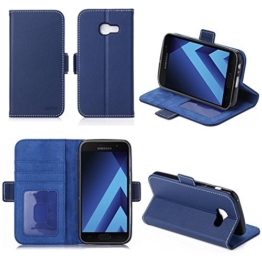 LG G6 2017 4G Hülle Brieftasche Leder blau Cover mit Kartenfach - Zubehör Etui Portfolio smartphone LG mobile G6 Case Schutzhülle (Handy Wallet tasche folio PU Leder, Blue) - XEPTIO accessoires -