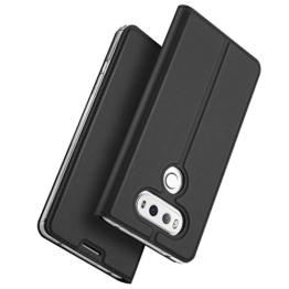 LG G6 hülle, KuGi LG G6 hülle / Fall - BW Stil Hochwertige ultradünne PU-Standplatz hülle für LG G6 smartphone.(Schwarz) -
