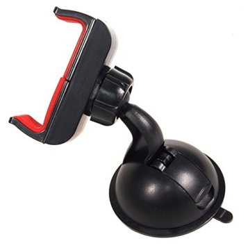 Maclean MC-658 Universal Auto Halterung mit Kugelgelenk KFZ Halter für Handy PDA GPS Smartphone Car Holder für Samsung Galaxy S6 S5 S4 Mini S4 iPhone 6 5s HTC One M8 M9 LG G3 G4 Sony Xperia Z2 und weitere Geräte -