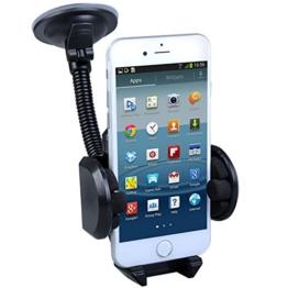 Maclean MC-660 Universal Auto Halterung KFZ Halter für Handy PDA GPS Smartphone Car Holder für Samsung Galaxy S6 S5 S4 Mini S4 iPhone 6 5s HTC One M8 M9 LG G3 G4 Sony Xperia Z1 Z2 Z3 -