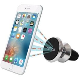 Magnetische Auto-Handyhalterung, Colico Aluminium Handy-Luftschlitzhalterung, Halterung für Auto-Lüftung, universal einsetzbar für Smartphones und Mini Tablets sowie Navigationsgeräte und mehr (Upgrade Version: 360 Grad Schwenkkugel) -