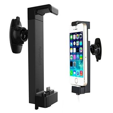 MFI iPhone Autohalterung, Sinjimoru iPhone Halterung mit USB Ladegerät/ Handyhalterung Auto inkl. MFI Lightning Kabel für iPhone 7 / 7 Plus / 6 / 6 plus / 5 / 5s / 5c. Sinji Car Kit, iPhone MFI Paket. -