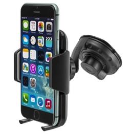 MidGard Universal KFZ Auto LKW Handy Halterung Halter Autohalterung Car Holder Mount Windschutzscheibe für iPhone SE, 5, 5S, 6, 6S, 7, 7 Plus / Galaxy S5, S6, S7, S7 Edge, Note 4, Note 5, Note Edge / Huawei P8, P9, Lite, Plus / Sony Xperia Z3, Z5, Premium, Compact, XZ, X / HTC M8, M9, M10 und andere Handy, Smartphone, Phablet -
