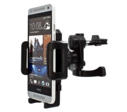 mobilefox® 360° KFZ Lüftungs Halterung Handyhalterung Lüftungsgitter Auto Halterung Air Vent Holder Halter für Smartphone HTC One / M9 / M8 / M7 / One Mini / M4 / One mini 2 / One S / One SV / One X / One V / One XL / One MAX (T6) / Desire 500 / Desire 510 / Desire 300 / Desire 310 / Desire C / Desire SV / Desire X -