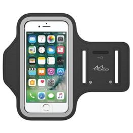 MoKo iPhone 7 Armband - Sweatproof Joggen Laufen Sport Armband Handy Hülle Schutzhülle + Schlüsselhalter Kopfhörer Anschluss für Apple iPhone 7, iPhone 6s / 6 Armband, Schwarz (Size L) -