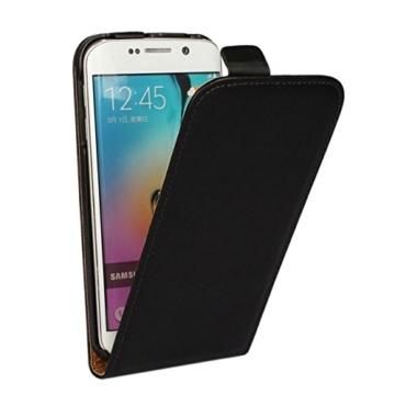 Moto G1 Hülle Schwarz Handyhülle Tasche Flip Case für Motorola Moto G (1.Generation) -