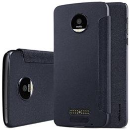 MOTO Z Hülle, IVSO Hohe Qualität Case Folio Tasche Cover, ist für Lenovo Moto Z Smartphone (14 cm (5,5 Zoll), 32 GB, Android) (Schwarz) -