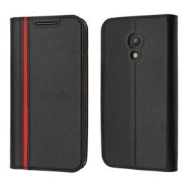 Motorola Moto G 2. Generation Hülle, Coodio Echt Ledertasche, Moto G 2. Generation Brieftasche, Modisch Lederhülle Tasche Schutzhülle mit Kartenfach Standfunktion für Motorola Moto G 2. Generation -