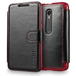 Motorola Moto G (3. Generation) Hülle,Moto G 3rd Gen Tasche,[Handyhülle][Wallet Case][Lederhülle] Mulbess Ledertasche im Bookstyle für Motorola Moto G 2015 Cover Schwarz -