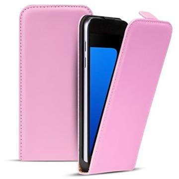 Motorola Moto G PU Leder Flip Case Klapphülle Cover Hülle in Farbe: Rosa -