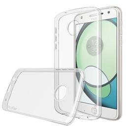 Motorola Moto Z Play Hülle, Profer TPU [Nicht für Moto Z] Transparent Weich Silikon Schutzhülle für Lenovo Motorola Moto Z Play (TPU-Durchsichtig) -