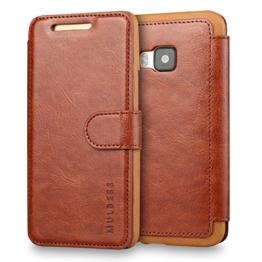 Mulbess HTC One M9 hülle Kaffee Braun,Ledertasche für HTC One M9 Tasche Leder -