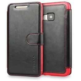 Mulbess HTC One M9 hülle Schwarz,Ledertasche für HTC One M9 Tasche Leder -