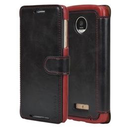 Mulbess Moto Z Play Hülle Schwarz,Handyhülle Lenovo Motorola Moto Z Play [2016 Model 5.5 Zoll] Ledertasche Schutzhülle im Kartenfach [Lederhülle Tasche Case] -