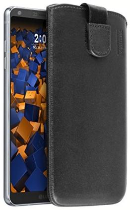 mumbi ECHT Ledertasche LG G6 Tasche Leder Etui (Lasche mit Rückzugfunktion Ausziehhilfe) -