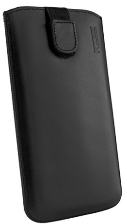 mumbi ECHT Ledertasche Motorola Moto G 2. Generation Tasche Leder Etui (Lasche mit Rückzugfunktion Ausziehhilfe) -