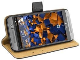 mumbi Ledertasche im Bookstyle für HTC One (M9) Tasche -