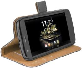 mumbi Ledertasche im Bookstyle für Motorola Moto G Tasche -