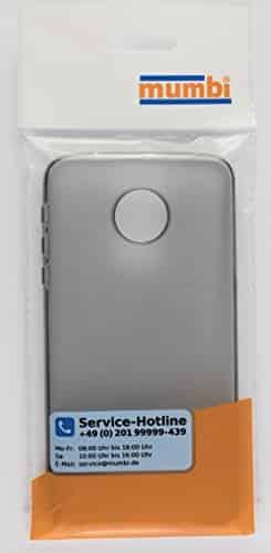 mumbi Schutzhülle für Lenovo Moto Z Play Hülle transparent schwarz -