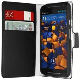 mumbi Tasche im Bookstyle für Motorola Moto G 2. Generation Tasche -