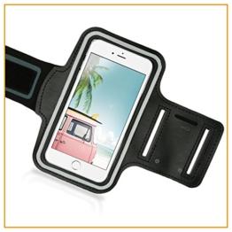 Naruba Media Sportarmband Handy-Hülle universal für iPhone-4-5-SE-C | Samsung | uvm. bis 4,0 Zoll | ideal für Sport wie Jogging-Laufen, Rad fahren | Nacht-Reflektierend für Ihre Sicherheit -