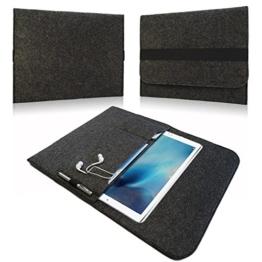NAUC Tasche Hülle für Google Pixel C Filz Sleeve Schutzhülle Tablet Case Cover Bag mit Innentaschen und sicheren Verschluss, Farben:Dunkel Grau -