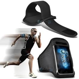 ONX3 Samsung Galaxy S8 Plus Case (Schwarz) Fall-Abdeckung Einstellbare Fitness Laufen Jogging Radfahren Gymnastik-Armbinde-Halter -