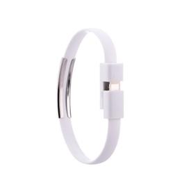 Original iProtect Lightning USB Silikon Armband Ladekabel Datenkabel für Apple iPhone SE, 5, 5s, 5c, 6 , 6s, 6s Plus, 7, 7 Plus, iPod Touch 5G, iPad Mini 1+2, iPad 4, Air 1+2, iPod Nano 7G mit Lightning Anschluss in weiss -
