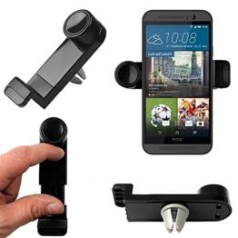Original Lanboo® KFZ Halter Auto Halterung für Lüftungsgitter für HTC One - M9 - Schwarz -