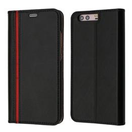 P10 Hülle, Huawei P10 Hülle, Coodio Echt Ledertasche, P10 Brieftasche, Modisch Lederhülle Tasche Schutzhülle mit Kartenfach Standfunktion für Huawei P10 -