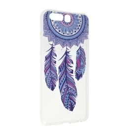 P10 Hülle Silikon 5.1 Zoll, Huawei P10 Schale Case Silikon, Moon mood® TPU Silicone Handyhülle Schutzhülle Case für Huawei P10 Thin Dünn Weich TPU Schutz Etui Cover, Flexibel Silikon Case Cover Backcover Slimcase Rückschale für Huawei P10 Smartphone Premium Handytasche Protective Skin Handyhülle Abdeckungs - Campanula (nicht für Huawei P10 Lite ) -