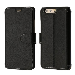 P10 Plus Hülle, Huawei P10 Plus Hülle, Coodio Echt Ledertasche, P10 Plus Brieftasche, Lederhülle Tasche Schutzhülle mit Magnetverschluss Kartenfach Standfunktion für Huawei P10 Plus -